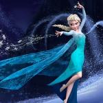 Эльза строит ледяной замок