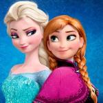Эльза и Анна улыбаются