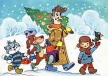 Новогодняя сказка о дружбе для детей старшей и средней групп