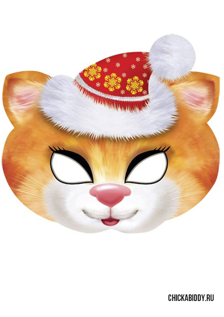 Кошка на новый год