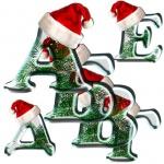 Буквы оформления новогодние