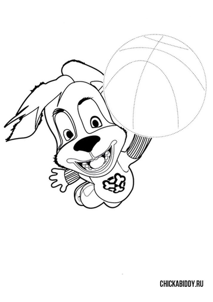 Дружок играет в мяч
