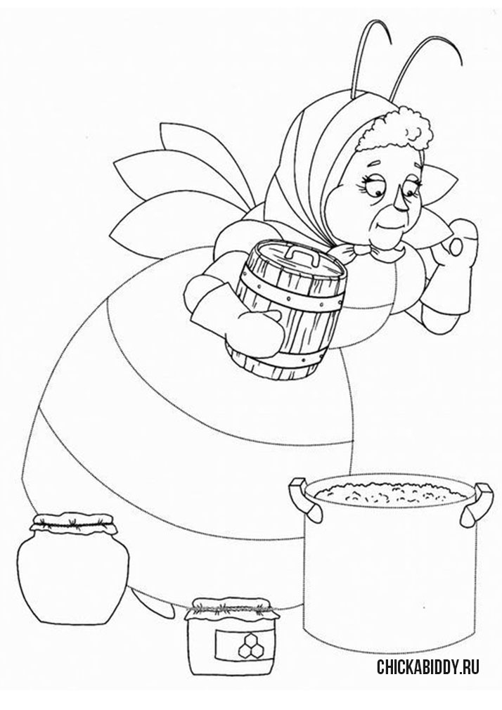 Баба  Капа варит варенье