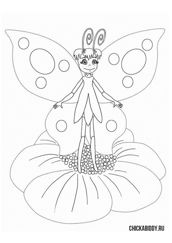 Бабочка  Элина на цветке