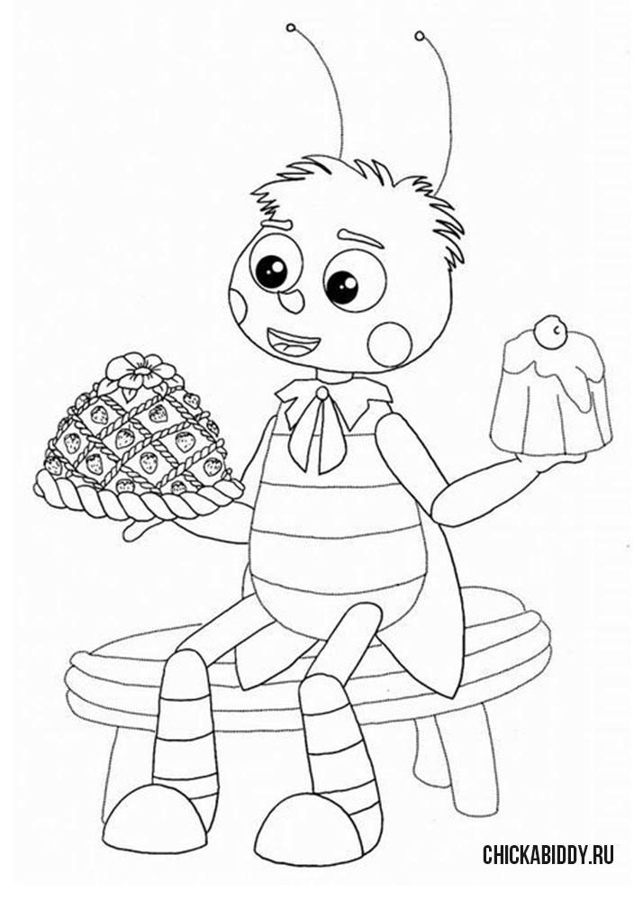 Пчеленок ест сладости