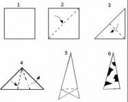 Схема заготовки для шестигранной снежинки