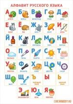 Карточки с буквами на одном листе