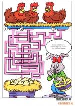 Заяц и куры