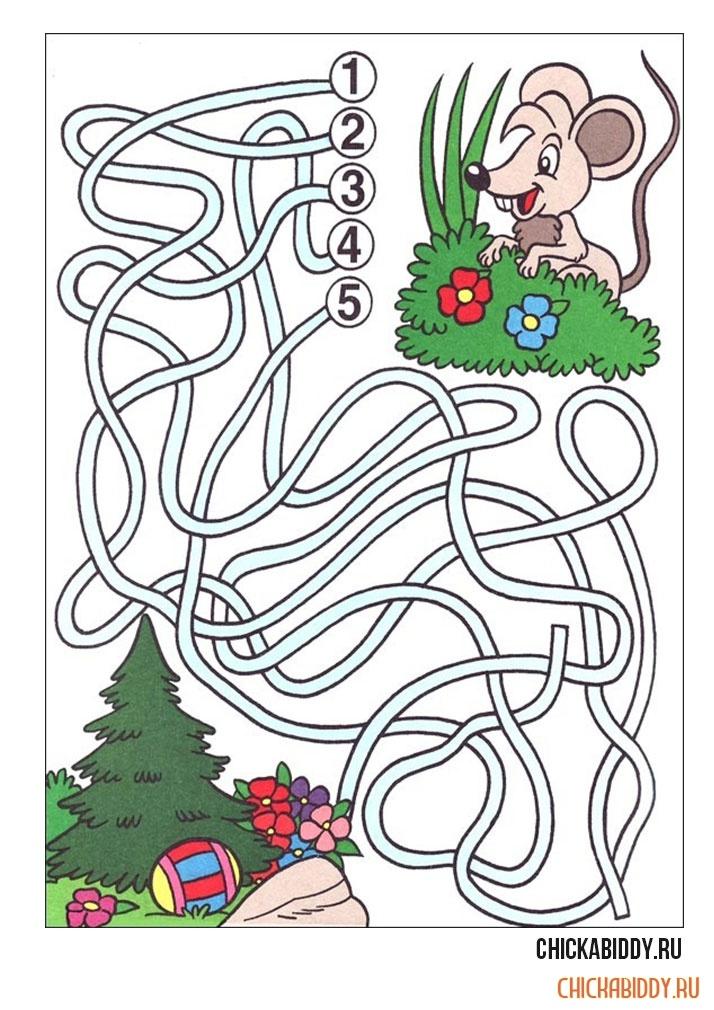Мышка ищет полянку