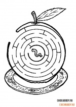Червячок в яблоке