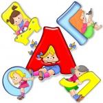 Буквы с детьми