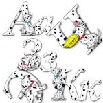 Буквы с долматинцами