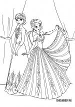 Анна и Эльза на балу