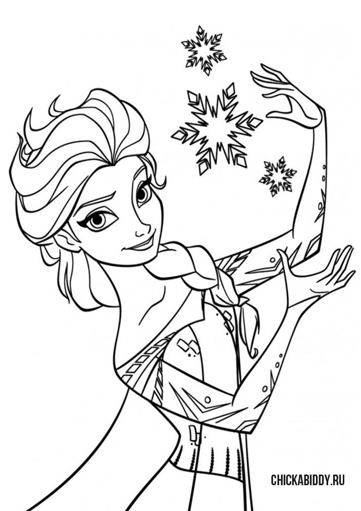 Эльза со снежинками