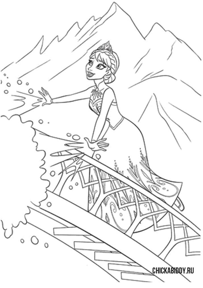 Эльза строит лестницу