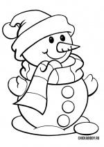 Снеговик на снежной подушке