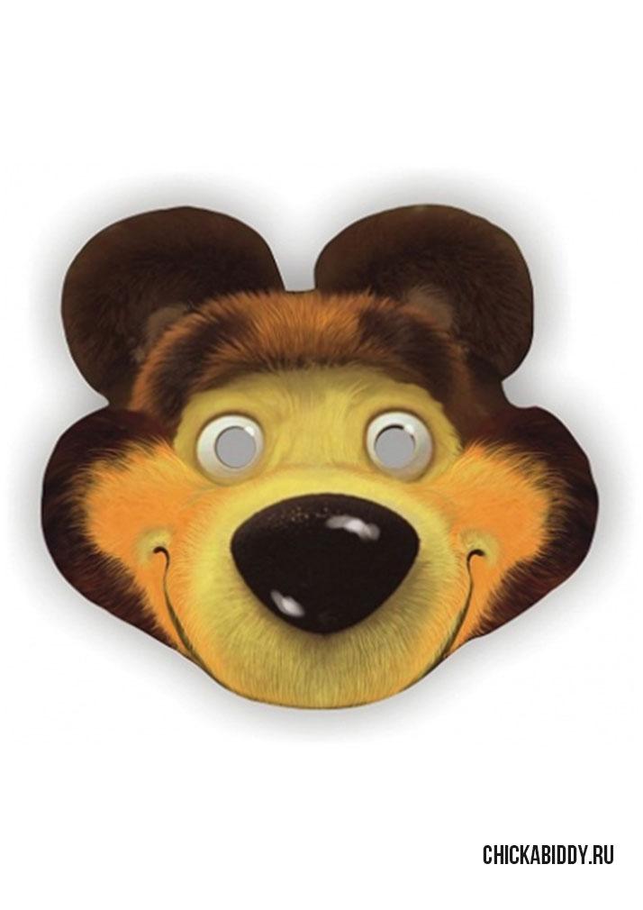 маска медведя своими руками лице