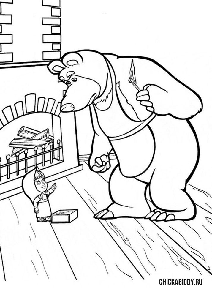 детские песни маша и медведь слушать