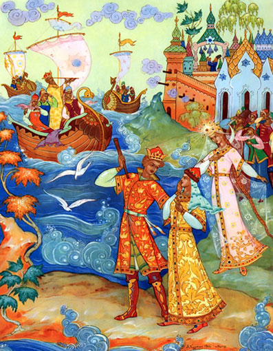 сказка о царе салтане три чуда слушать