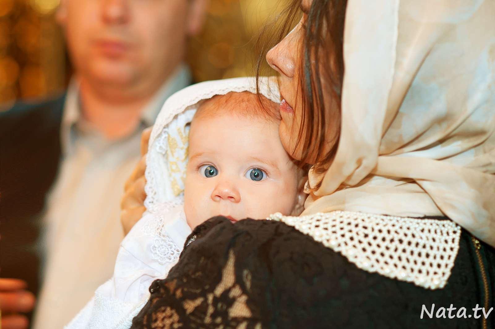 Фото детей на крещении