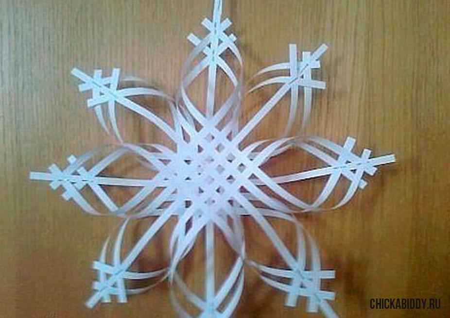 Гигантские снежинки своими руками