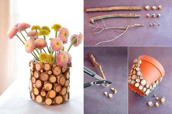 Декор цветочного горшка своими руками фото